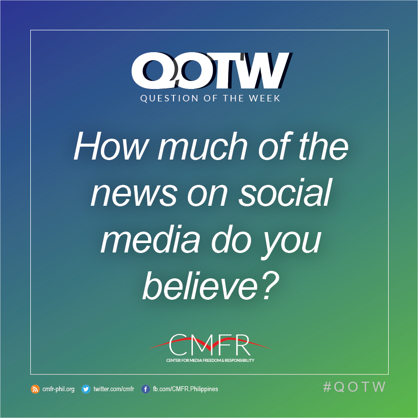 Thumbnail for QOTW: How much of the news on social media do you believe?