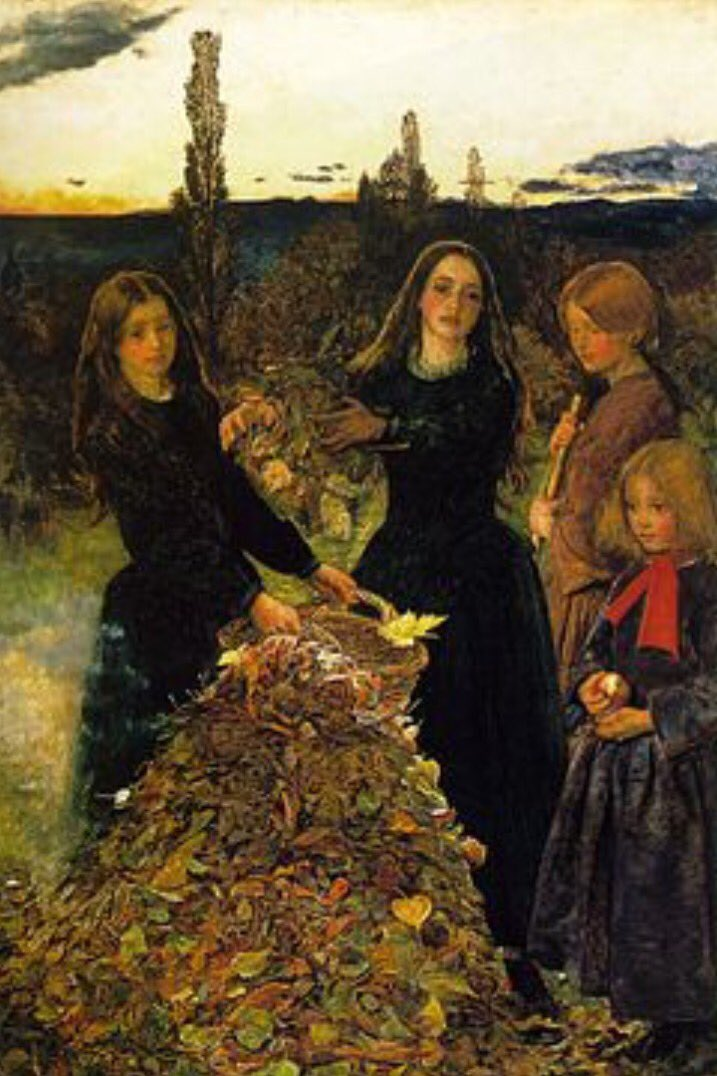 Today is the start of Autumn. Here's John Everett Millais' Autumn Leaves of 1858 to celebrate #AutumnalEquinox https://t.co/uCEACt082I