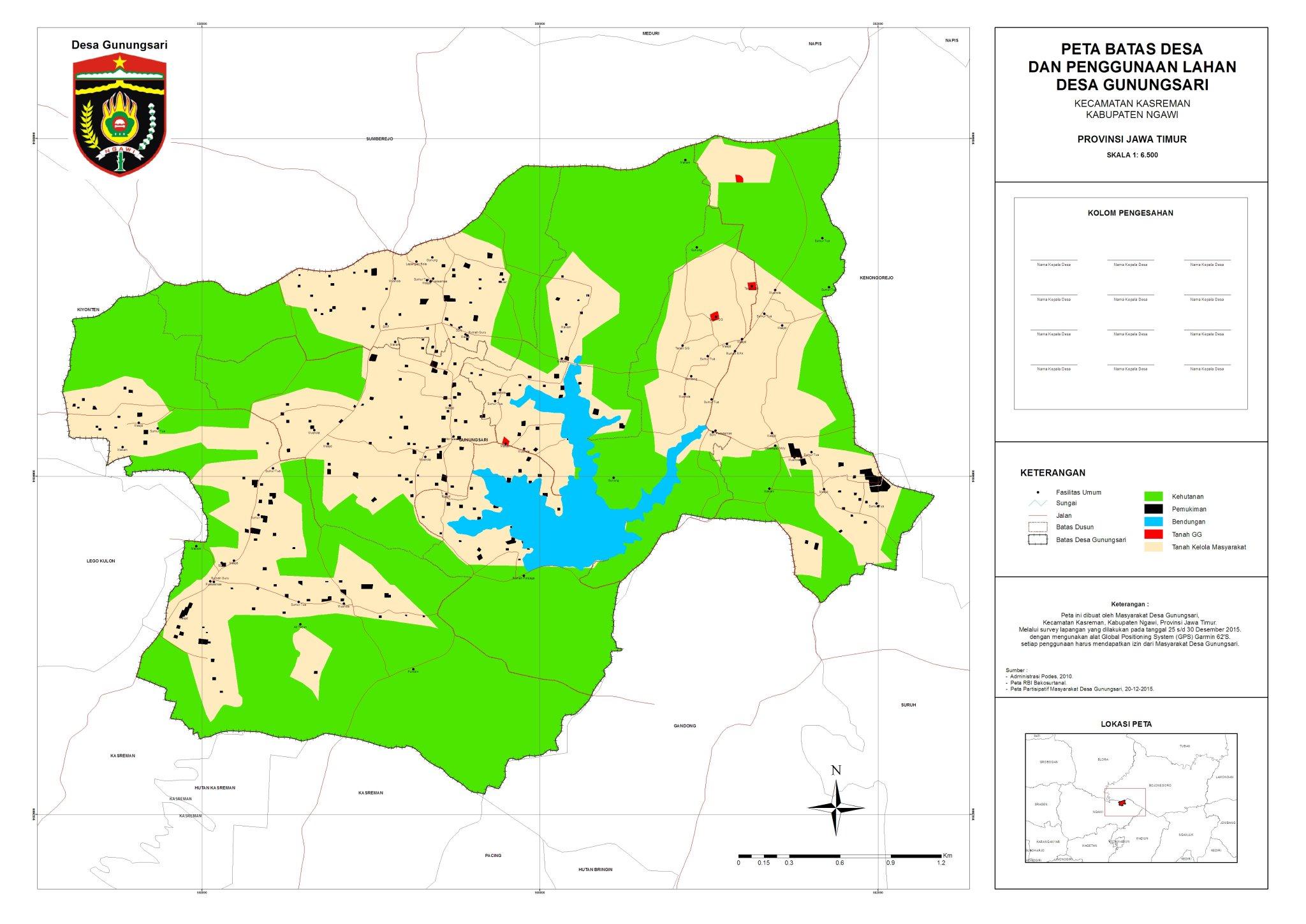 "gunungsari on Twitter: ""Peta Batas Desa dan Penggunaan ..."