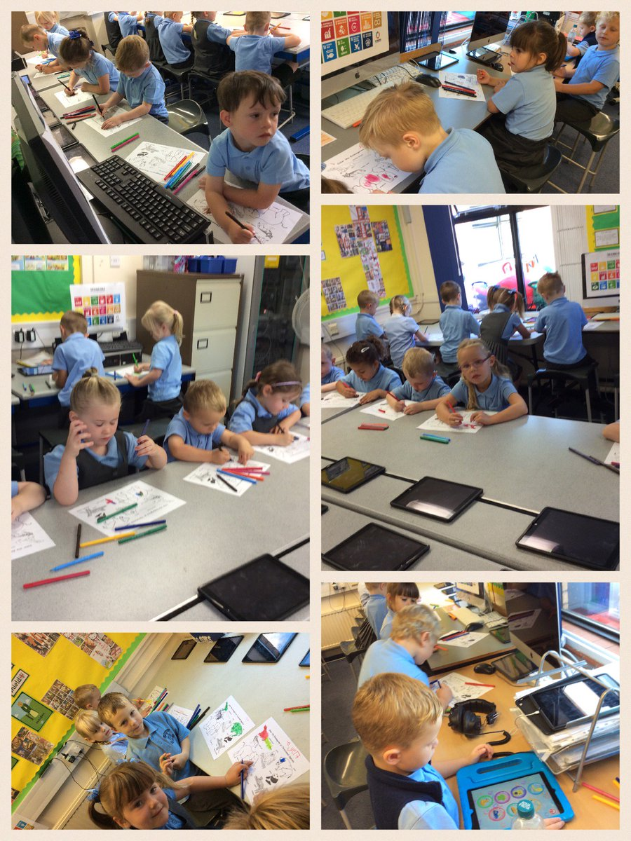 This morning in Reception Class Computing we looked at 'endangered' animals. Look at our wonderful colouring in!