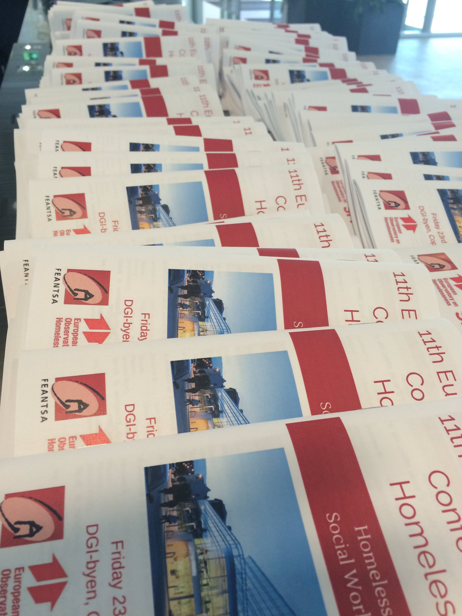 Ready and waiting for participants to arrive for tomorrow's European Research Conference on Homelessness! #eoh2016 https://t.co/Itcgt3uAkl