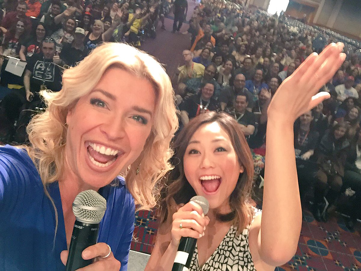 the AWESOME @KarenFukuhara from @SuicideSquadWB @RoseCityCC #RCCC #RCCC2016 SUCH ADORE! https://t.co/1xxoNWIO38