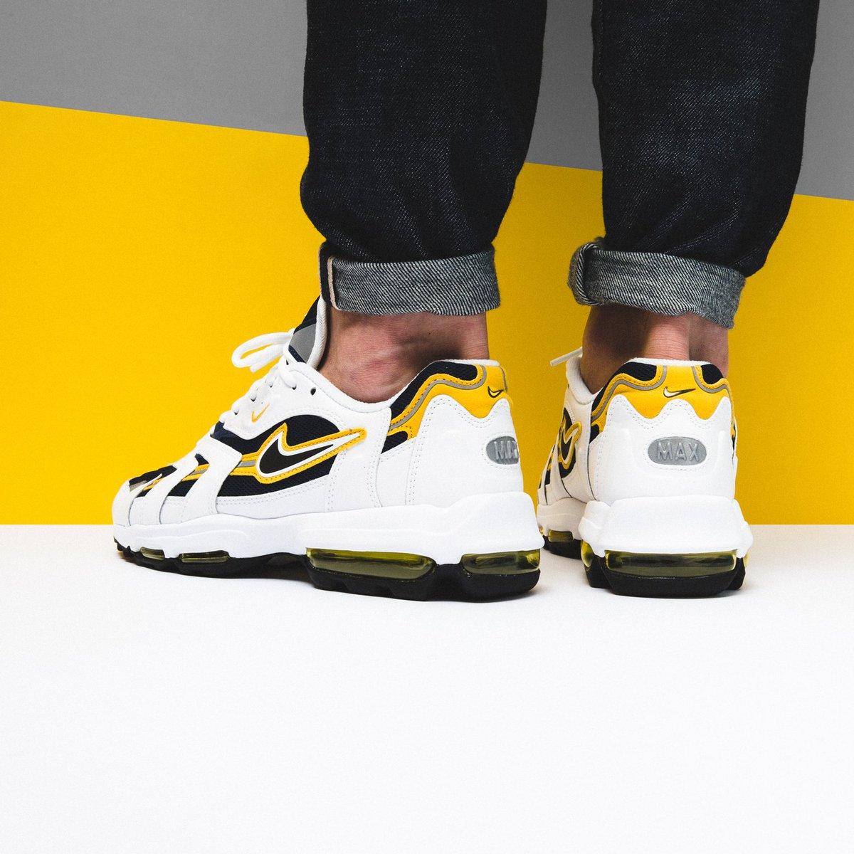 buy popular 4372d 1cb1d  new  1st og Nike Air Max 96 II XX  Midnight Navy Black-White-Goldenrod   SHOP HERE http   bit.ly 2cFvcEM pic.twitter.com 1LEFiIRPSJ