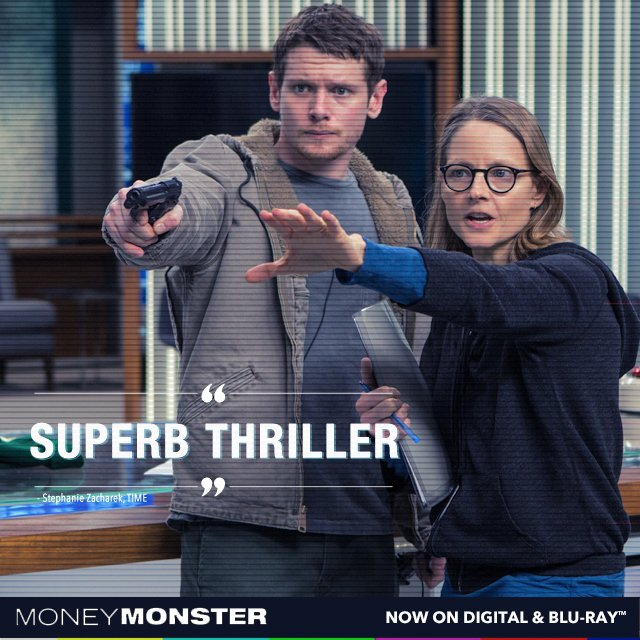 #MoneyMonster's twists and turns will keep you guessing. Own it now: https://t.co/H5DjxfdypT https://t.co/NZyITHTbFH