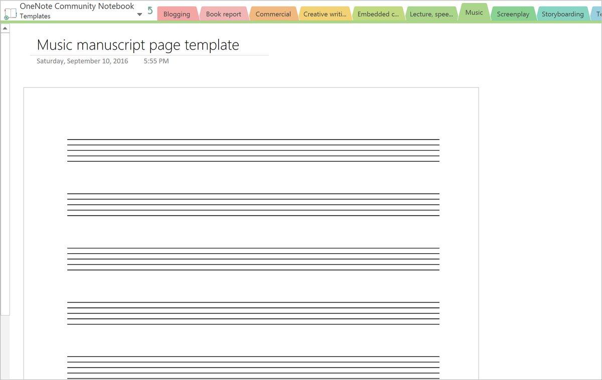create onenote template