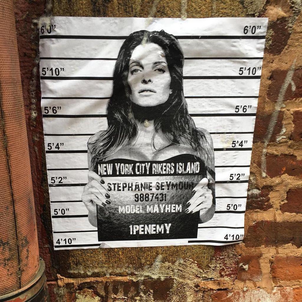 Wheatpaste Graffiti Art Crosby Street NYC @1penemy #1penemy #wheatpaste #street #streetart #Graffiti #graffitinyc #…