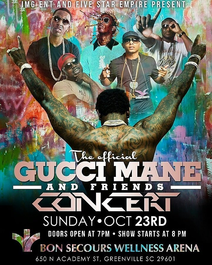 SOUTH CAROLINA! Gucci, Dolph, Thugga, Pee-Wee all under one roof.... https://t.co/8dNMrle9QJ