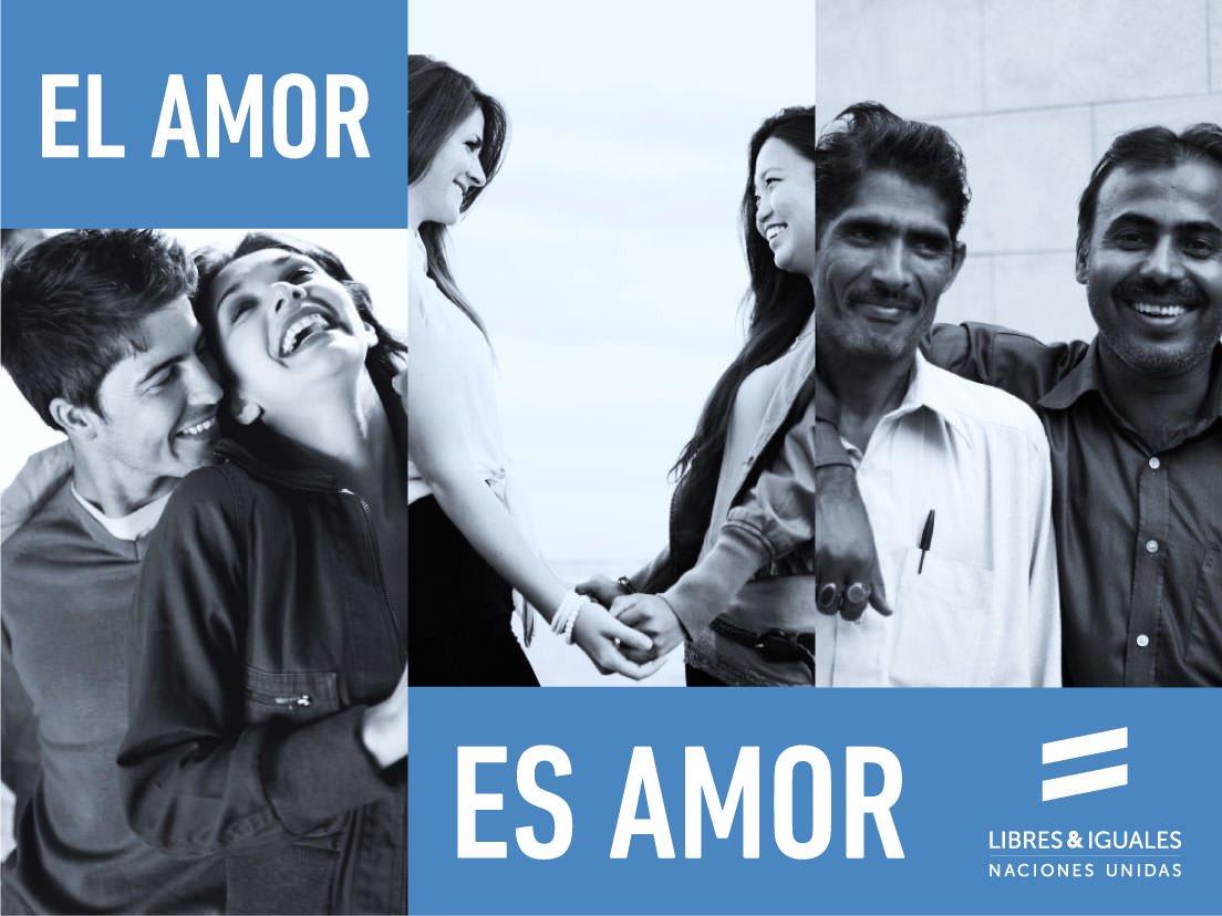El amor es simplemente amor. ¡Somos libres e iguales! vía. @ONUDHmexico  #Loveislove https://t.co/iDYYtjg6hl