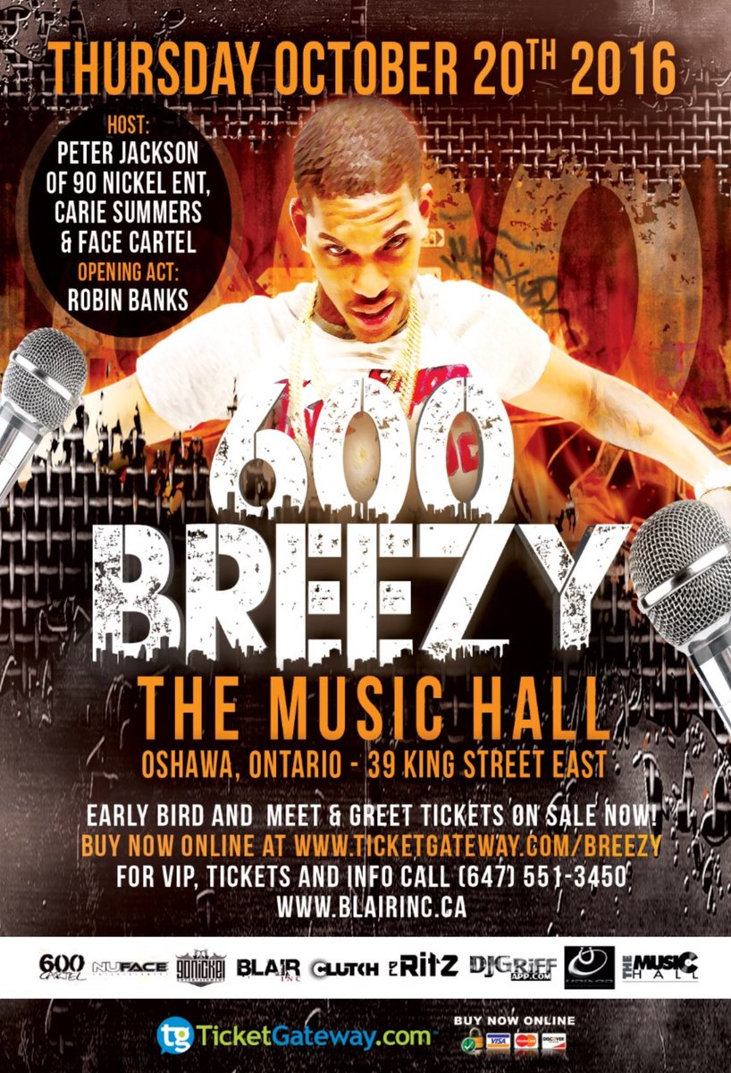 Got @600Breezy booked in Ontario at The Music Hall October 20th @mtabooking https://t.co/Anru0NFOw3