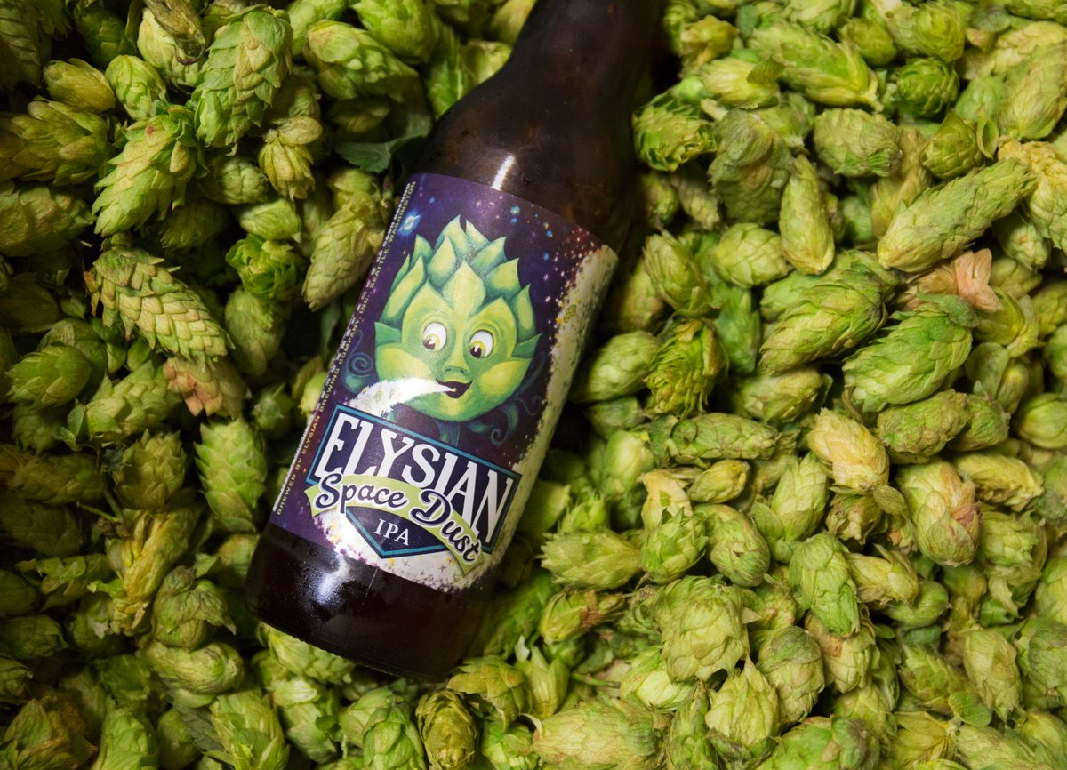 Fresh hop harvest! #ElysianBrewing #SpaceDustIPA https://t.co/qQEVnQF1LR