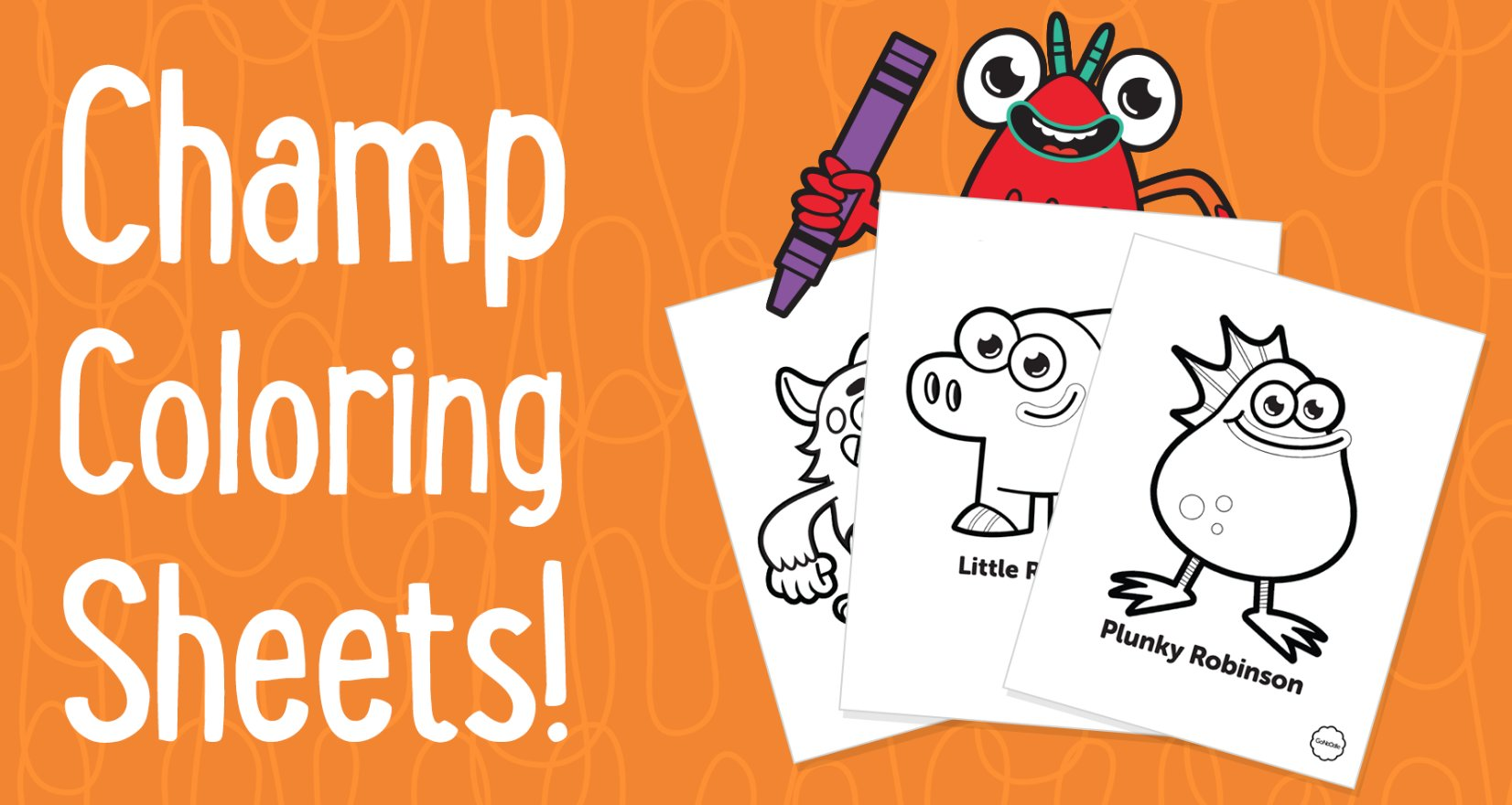 """GoNoodle on Twitter: """"Extra! Extra! Champ coloring sheets and"""