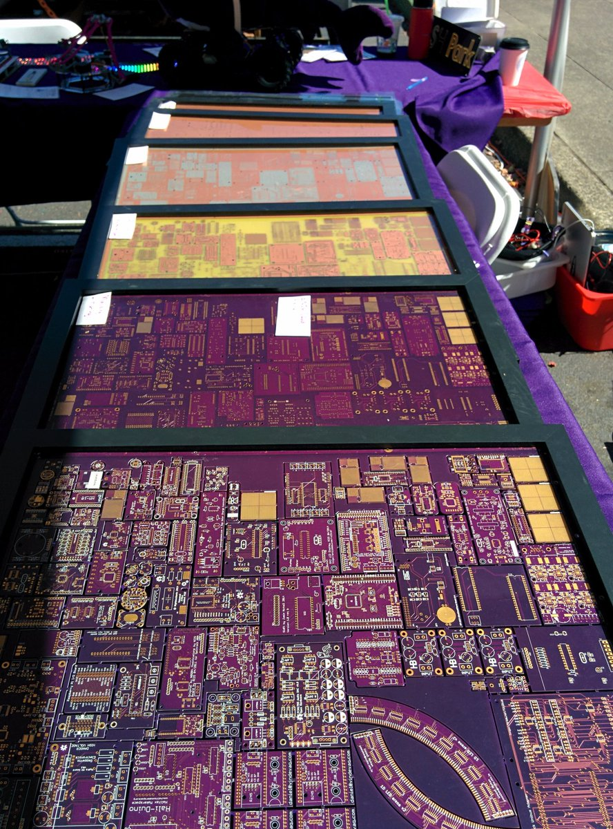 Pcb Manufacturing Process Osh Park On Twitter Come See Examples Of The In Our Makerfairepdx Booth This Weekend At Omsi Makerfaire
