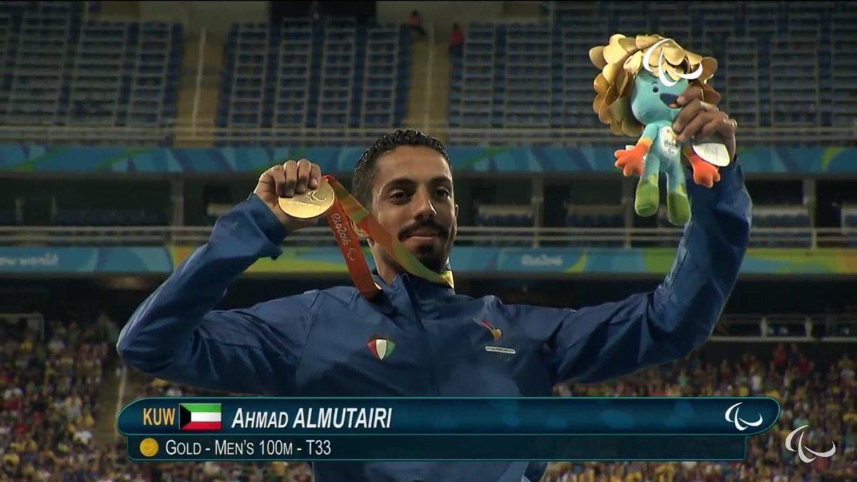 لحظة تتويج البطل الكويتي أحمد المطيري في أولمبياد ريو https://t.co/iHsK6Uwa7a