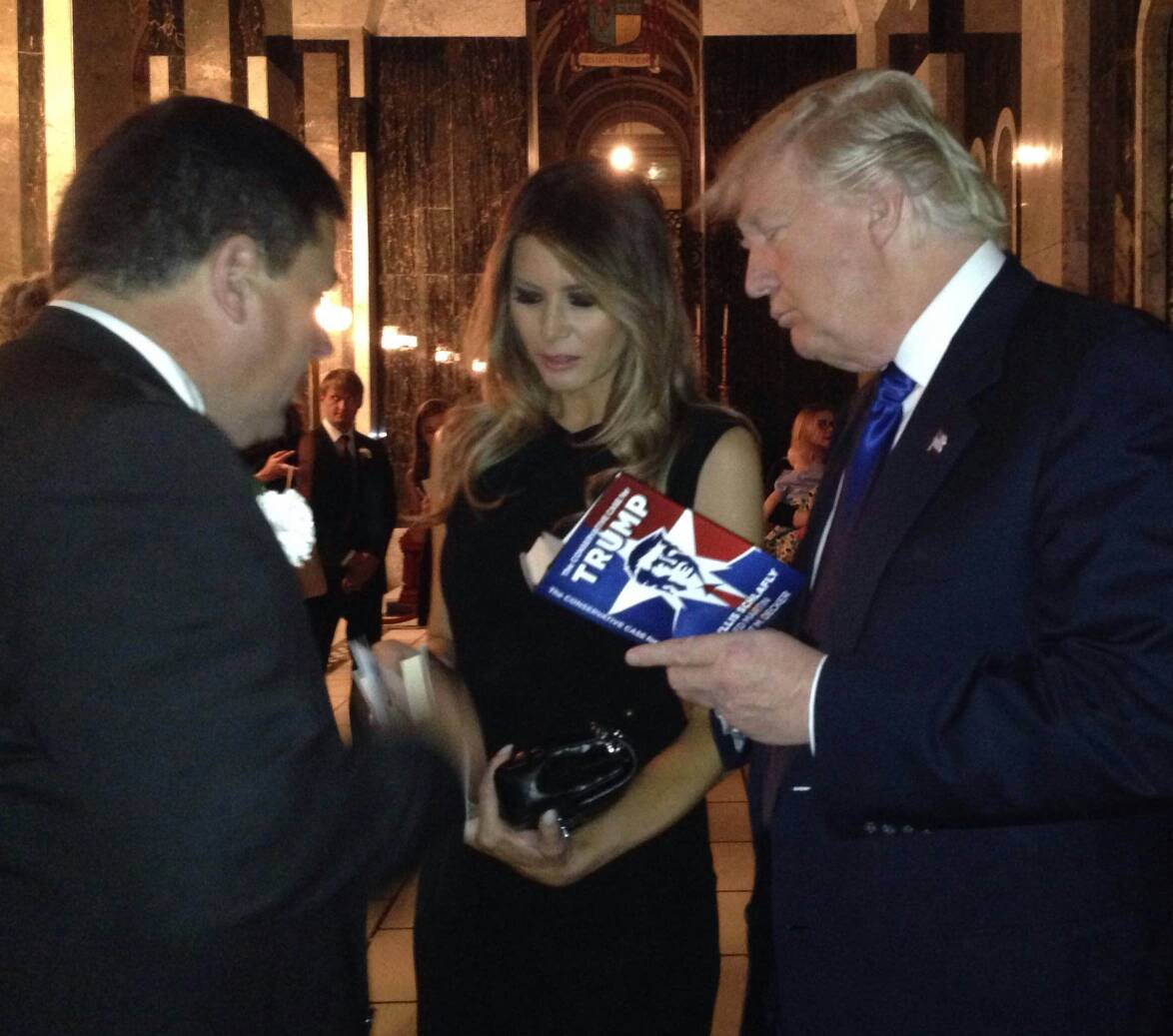 "I gave @realDonaldTrump a copy of ""The Conservative Case for Trump."" Get your copy here: https://t.co/mSguRwYhFl https://t.co/TZL7OC2S7v"