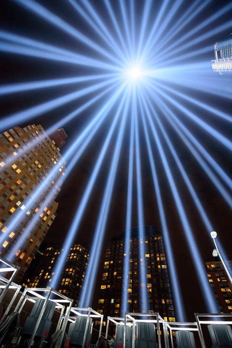 This is what it looks like inside the 9/11 #TributeInLight memorial in Lower Manhattan. #NeverForget via @ABC7NY<br>http://pic.twitter.com/qbF1ZmwBSF