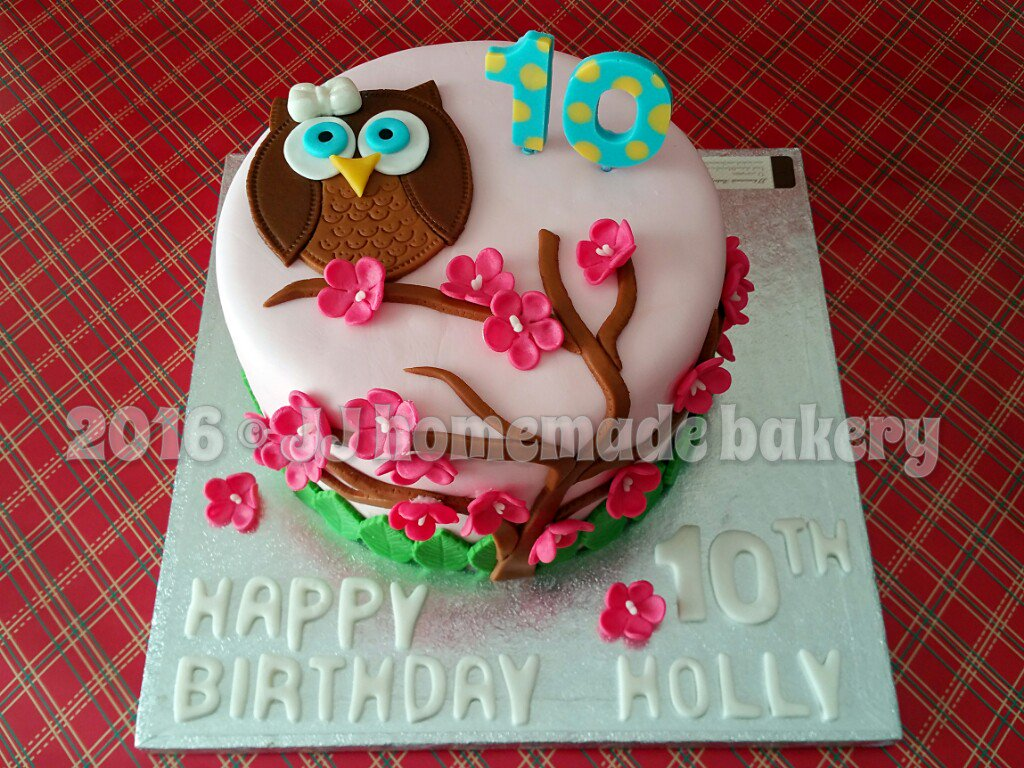 Super Jj Bakery On Twitter A Simple Version Of Owl Birthday Cake Owl Birthday Cards Printable Riciscafe Filternl