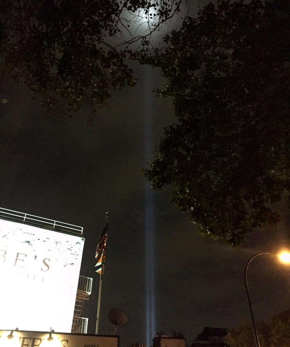 Walked through the East Village this eve and saw the #TributeInLight was already lit. Never fails to move me. <br>http://pic.twitter.com/DCks5MwknE