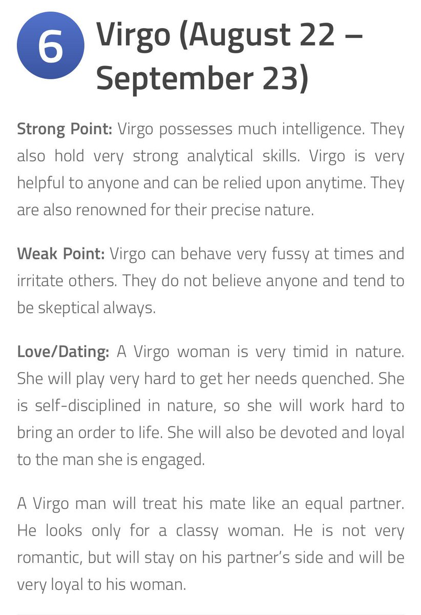 Virgo man weakness