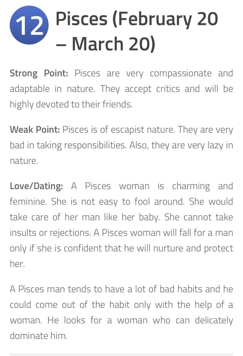 pisces woman weaknesses
