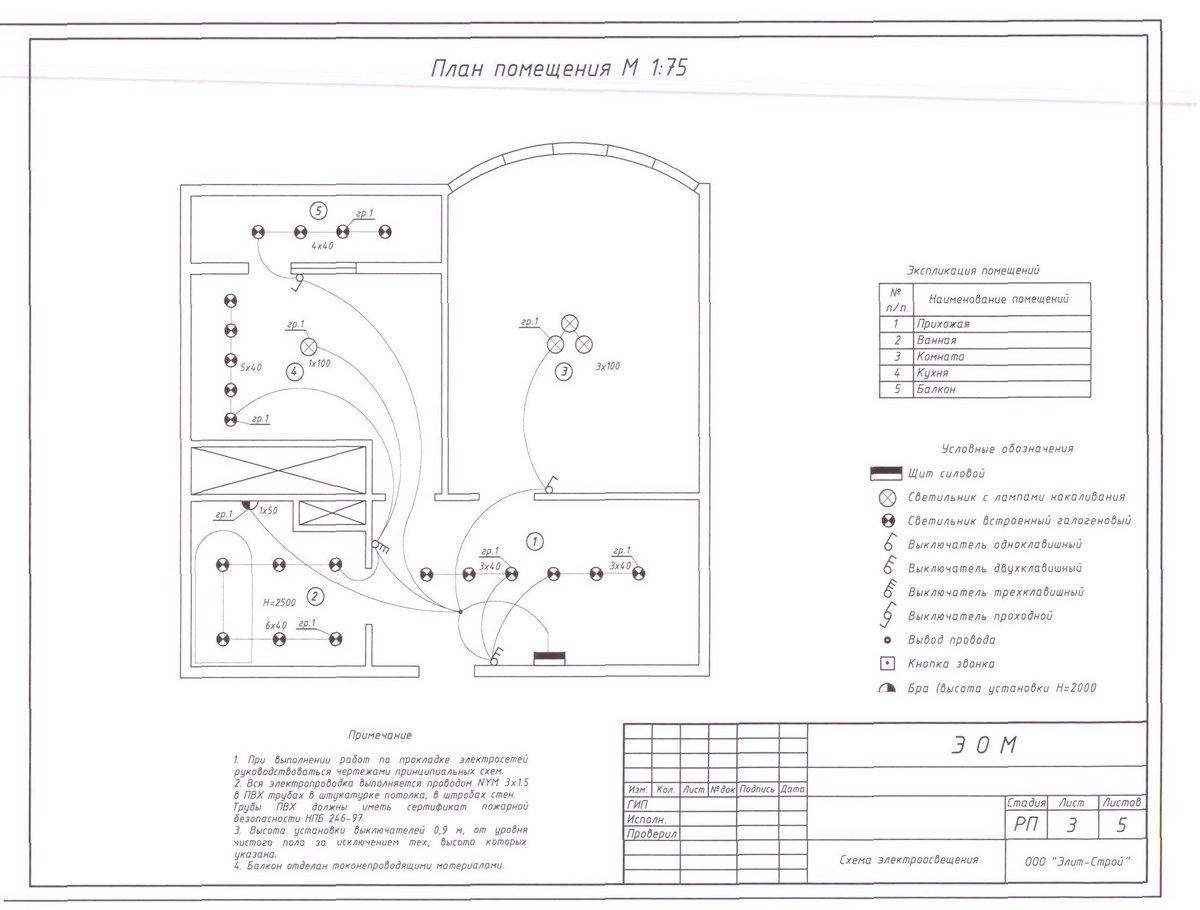 Электрическая схема мостового крана с описанием