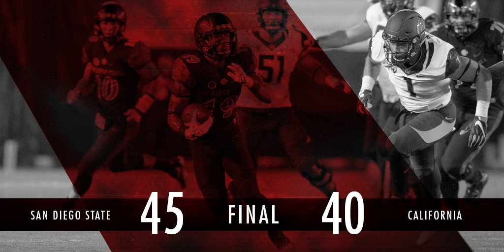 #AztecFB defeats California! #Win21 https://t.co/iSMLh5VosO
