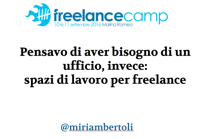 Slide e video del mio intervento al #freelancecamp di ieri https://t.co/Wz9xdeUyaQ + https://t.co/p1Y7tyYBb8 https://t.co/cYAS1wvLNi