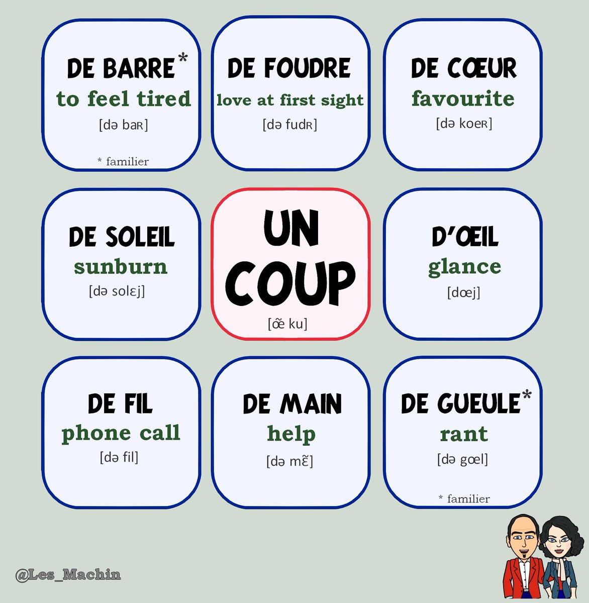 Les machin on twitter voici quelques expressions avec le mot un coup try to make a - Expression avec le mot coup ...