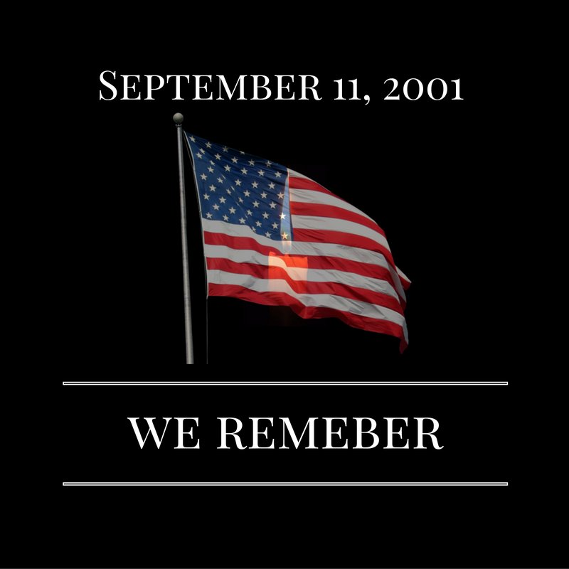 Today marks the 15th anniversary of the September 11th attack. We remember all the victims of 9/11. #NeverForget https://t.co/W9YE8r2c6c