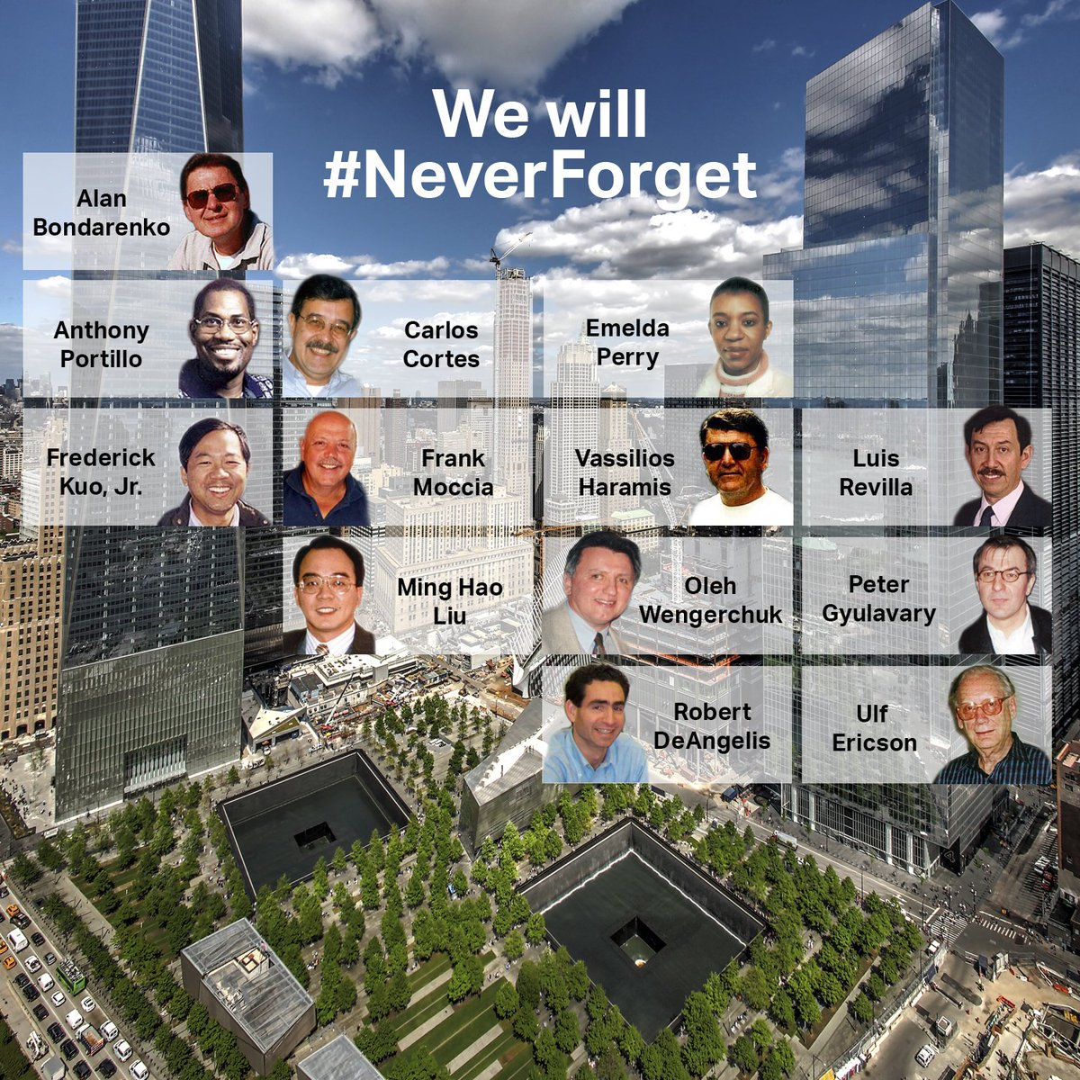 15 years later, we remember our colleagues and will #NeverForget all those who lost their lives that day. https://t.co/5QOWDKH8bo