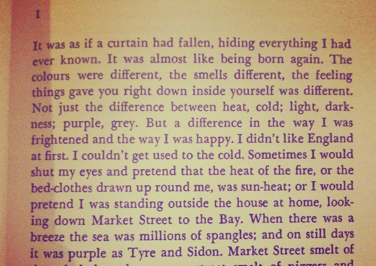 Voyage in the Dark...brilliant stuff by Jean Rhys. The first page just draws you in #ReadingRhys https://t.co/G8SeFm82sK