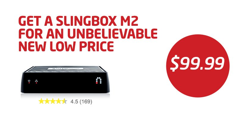 Now at it's lowest price ever! A new #SlingboxM2 for $99! We just lowered the price on the M2 by $50! #Slingbox https://t.co/MBPMDzOiox