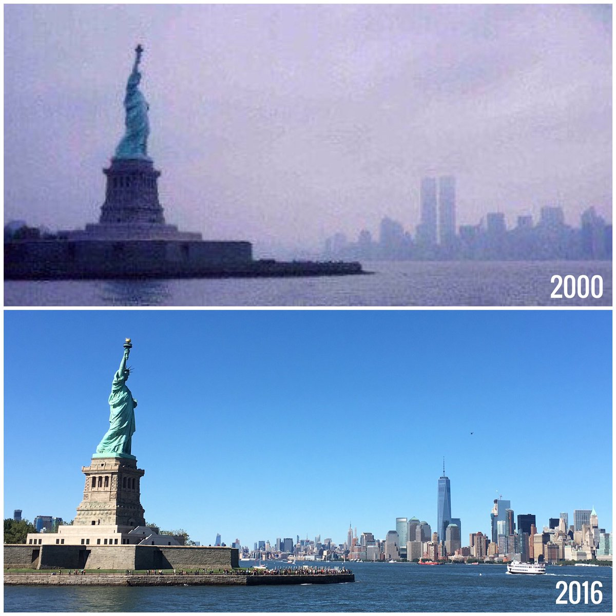 I took these photos 16 years apart. #NeverForget https://t.co/wckeJzhavc