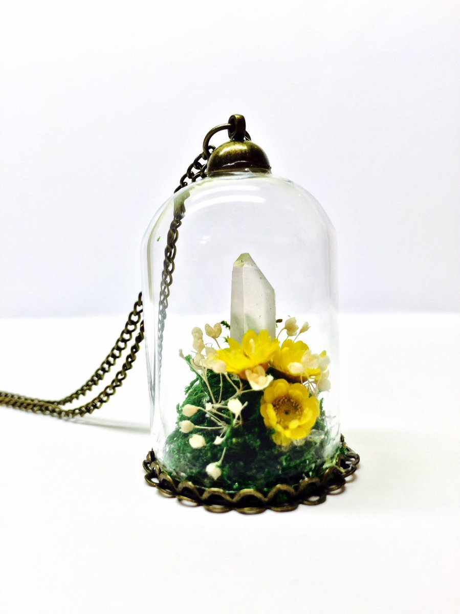 Clakeart On Twitter Crystal Terrarium Necklace Flower Garden Pendant Preserved Moss Https T Co Vtzsjcxlcc Handmade Gardenpendant