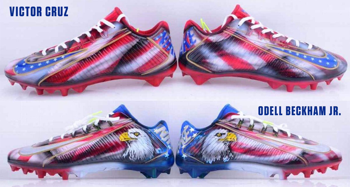 7c458dedeaf Victor Cruz   Odell Beckham Jr. will wear these cleats today in remembrance  of 9