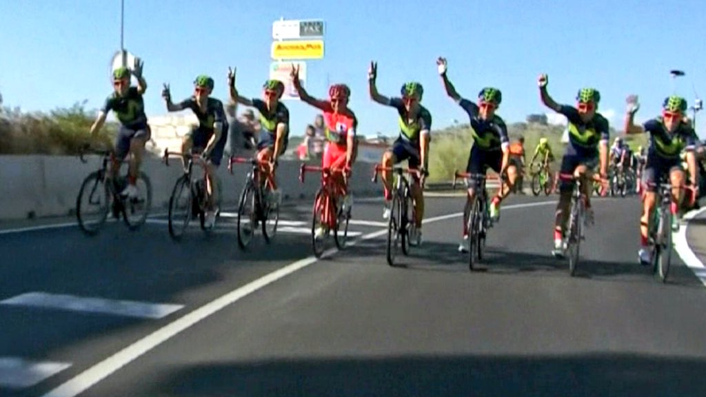 Salud!!!! @Movistar_Team @lavuelta https://t.co/E3BEJ8vb5v