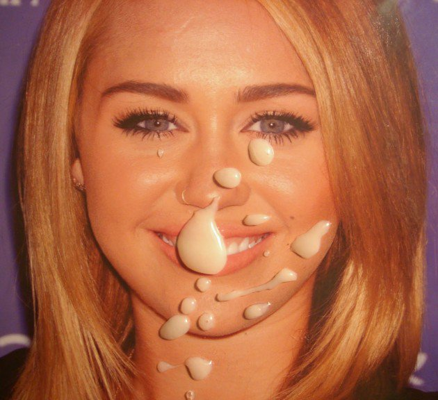 Speaking, Miley cyrus naked jiz face You are