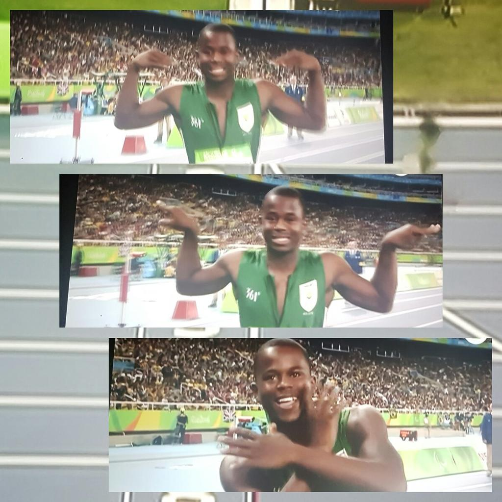 He emulated a champ and he ran like one too! Ntando Mahlangu, we are so proud of you
