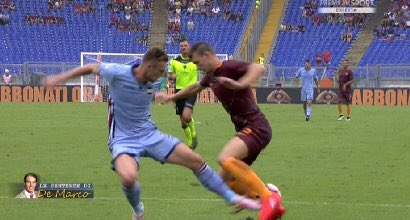 Moviola Roma-Sampdoria Video: rigore dubbio su Dzeko al 92'