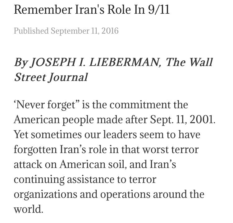 Remember & #NeverForget #Iran's role in 9/11, the country that has been aiding AlQaeda #IranCrimes #11Sep <br>http://pic.twitter.com/9kAFZt8wsX via @5a1di