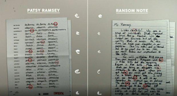 jonbenet ransom note handwriting analysis