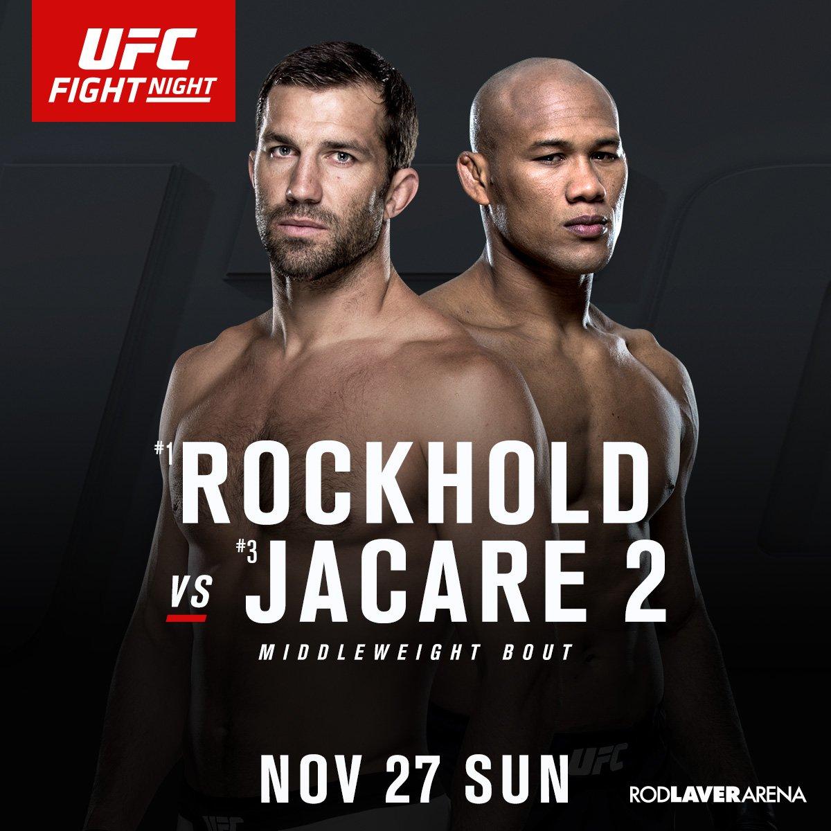 Melbourne, you in?! @LukeRockhold vs. @JacareMMA | Nov 27 Register for pre-sale info ➡️ https://t.co/9gHa4oOvy4 https://t.co/QGjwqUUU7Q