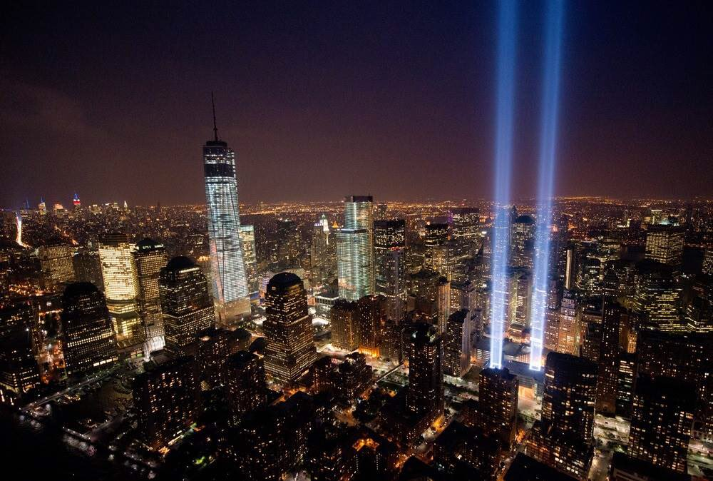 Sending love to those who lost loved ones 15 years ago today. We will always remember....  #NeverForget https://t.co/yE5lpZC0wJ