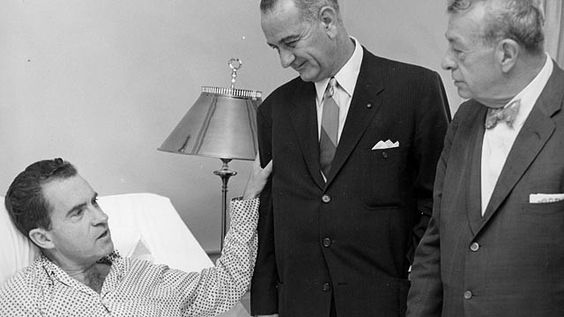 Nixon in hospital during 1960 campaign.  Had staph infection. https://t.co/YYa5OOkY5H