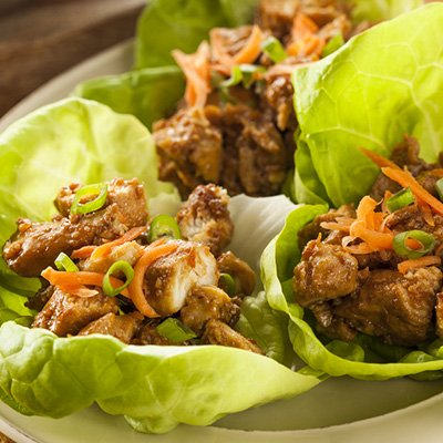 Paleo Thai Chicken Lettuce Wraps