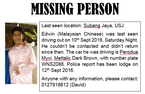 Please help his family find him. Tolong RT https://t.co/RE4dHVtoy4