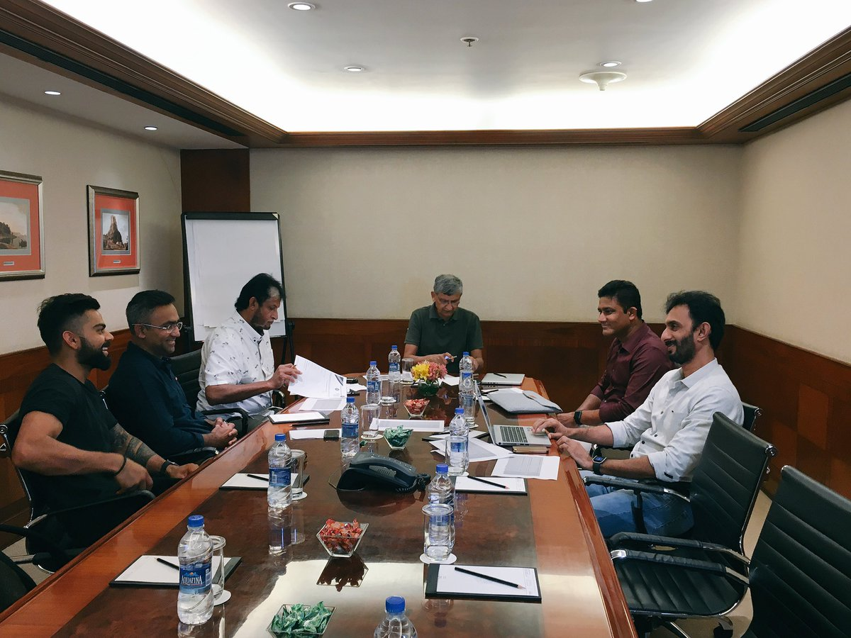 "BCCI on Twitter: ""The All-India Senior Selection Committee meeting begins  #INDvNZ… """