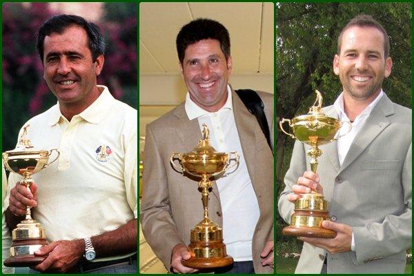 Image result for Sergio Garcia with Seve and Olazabal