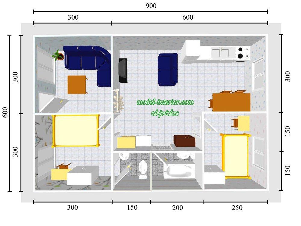 Gambar Desain Rumah Minimalis 6 X 9  populer 40 desain rumah minimalis 2 kamar ukuran 6x9