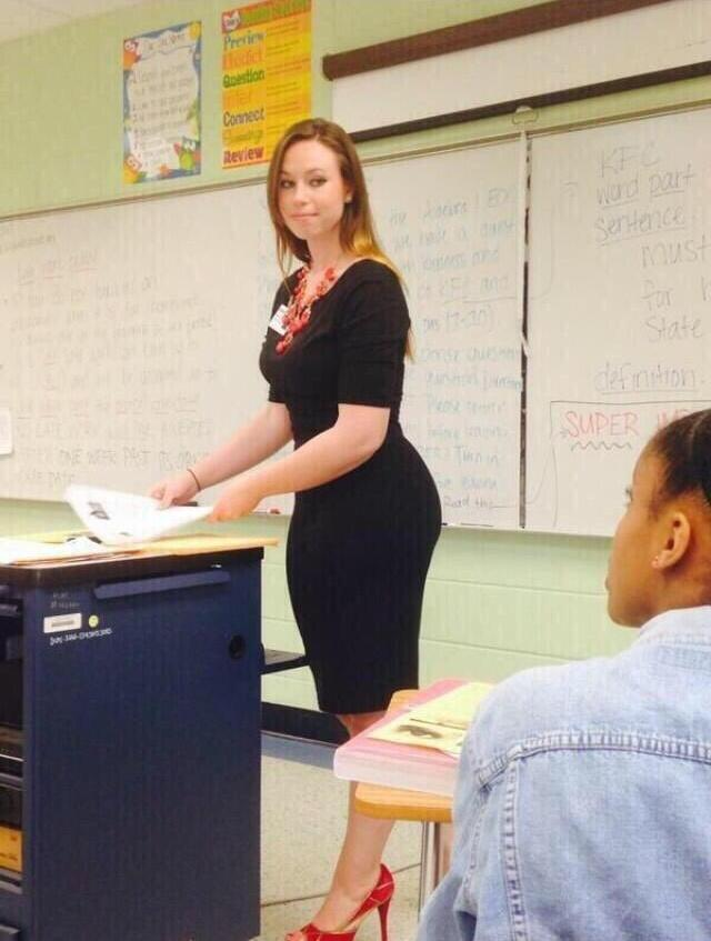 С учительницей фото