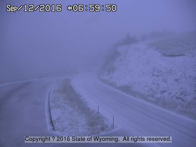 715 AM - Chief Joseph Highway is already slick with snowfall this morning. Please be careful. #wywx